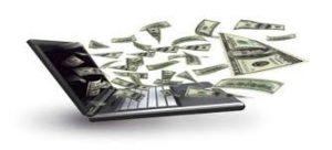 rahaa lentää tietokoneesta