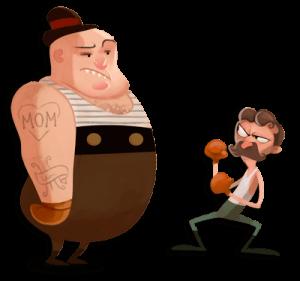 miehet taistelee