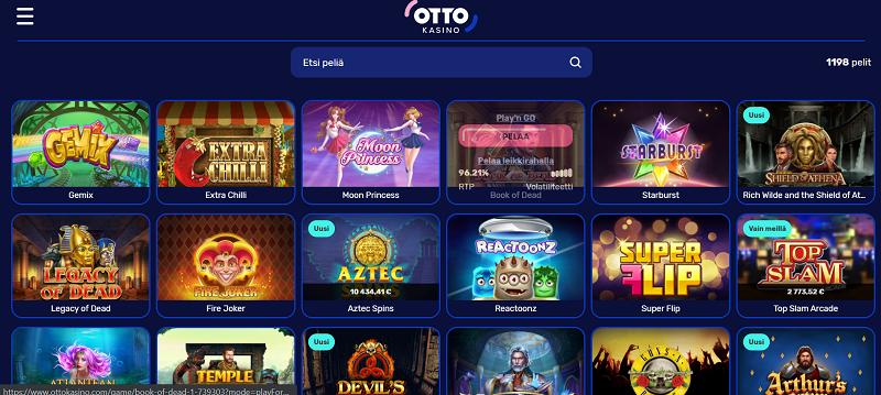 otto_kasino-pelivalikoima