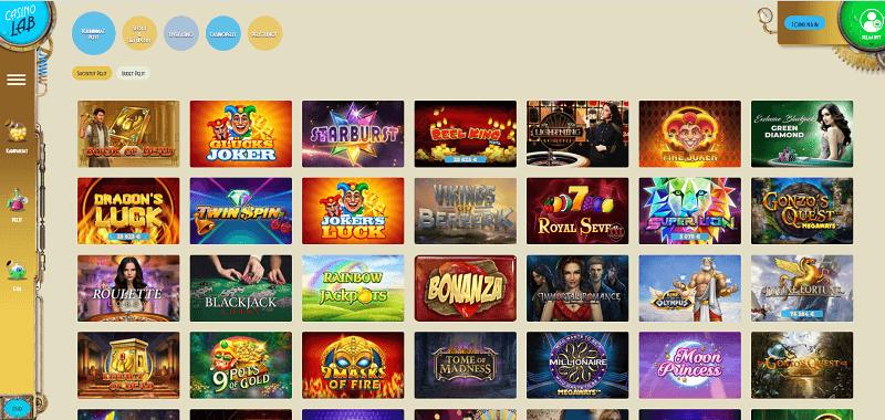 casinolab-pelivalikoima