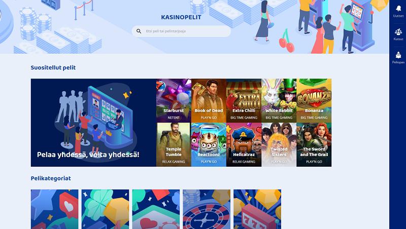 casinobud-pelivalikoima