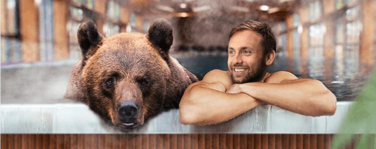 karhu kylpylässä