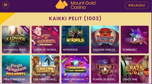 mount-gold-casino-pelivalikoima