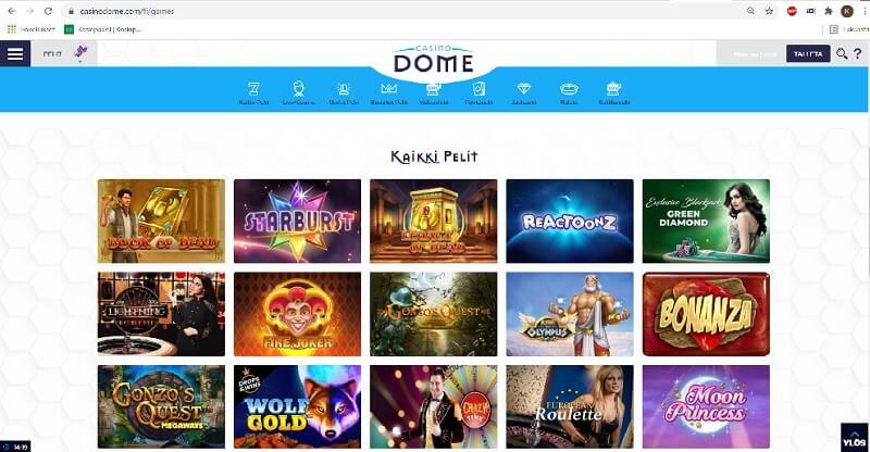 casino-dome-pelivalikoima